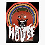 Fsgedana Film Horror Humor Manga Halloween Japan House Hausu - Movies- Print Modern Typographic Poster Girl Boss Office Decor Motivational Poster Dorm Room Wall - / Customize