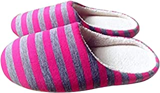 Bigboba Simple and Silent Striped Slippers