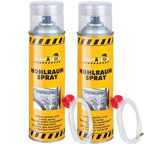 Chamäleon HOHLRAUMSCHUTZ VERSIEGELUNG HOHLRAUM 2 x 500ml Spray 1K HOHLRAUMVERSIEGELUNG Hohlraumkonservierer SPRÜHDOSE