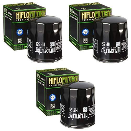 3x Filtre à l'huile Moto Guzzi Centauro 1000 V10 i.e Sport 98-01 Hiflo HF551