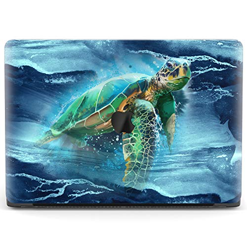 Mertak Hard Case Compatible with MacBook Pro 16 Air 13 inch Mac 15 Retina 12 11 2020 2019 2018 2017 Waves Marine Cover Plastic Blue Swimming Laptop Clear Ocean Turtle Touch Bar Sea Protective Print