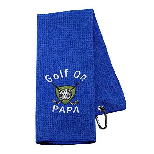 NOBRANDS Golf-Geschenk für Opa, Papa, Golf On Papa, Golfhandtuch, für Herren (Golf On Papa, Golf Towel EU)