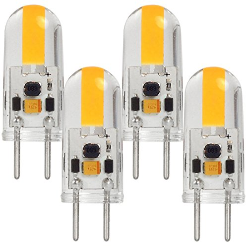 MENGS 4 Stück GY6.35 COB LED Lampe 3W AC/DC 12V Warmweiß 3000K Mit Silikon Mantel