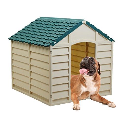 Starplast Green / Beige Large Dog House/Kennel