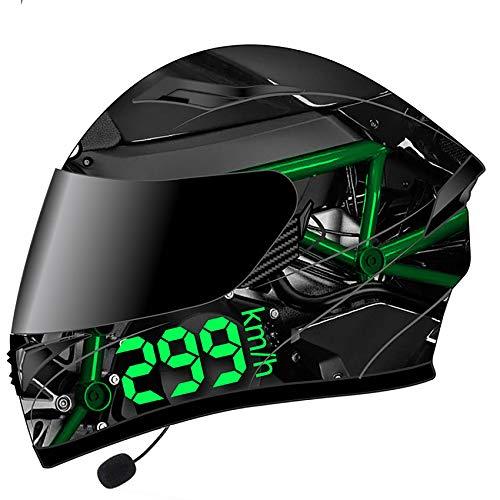 MTTKTTBD Motorradhelm Klapphelme Bluetooth,ECE Zertifiziert,Integralhelm für Cruiser Chopper Moped Scooter,Motocrosshelme mit Antifogging Doppelvisier für Damen Herren Automatic Answer