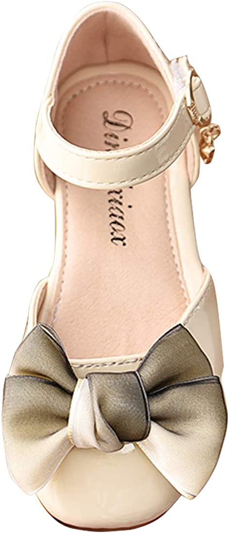 Greneric Joeupin Girls Sandals Mary Jane Flats Bow Toddler Little Kid Dress Shoes for Wedding Party Prom Princess