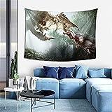 Tapiz para colgar en la pared, cazador de monstruos, videojuegos, tapiz maestro de juegos para dormitorio, decoración de pared, manta de playa de 100 x 150 cm