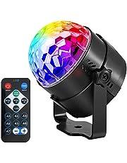 ANBURT ミラーボール ディスコライト ステージライト LED ポータブル 7色 リモコン付き パーティー KTV カラオケ クラブ バー照明用ライト