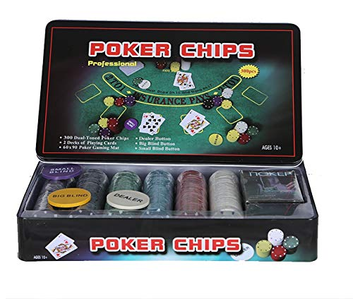 Professional 300 Chips Poker-Set (TIN CASE Safe Pack)