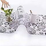GEIA Transparente Mantel Impermeable Mantel Impermeable Mantel de la casa Tablas de Restaurante Pad PADR PVC Silla DE PAZA DE PVC B-40X210CM