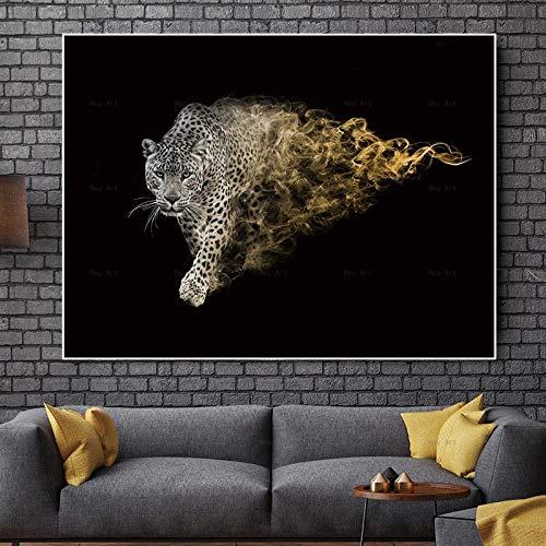Kunst Wanddruck Panda Tier Tiger Poster Wohnzimmer Leinwand Malerei Heimtextilien,Rahmenlose Malerei-50X67cm