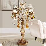 """Kensington Hill Golden Droplets 19 1/2"""" High Candelabra Votive Candle Holder"""