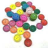 DAYI Botones Decorativos Multicolores Redondos para Accesorios de Costura de Costura para Ropa 50 unids/Lote 15 mm, 50 Piezas por Paquete