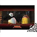 OKJK 1000 Piezas de Rompecabezas para Adultos Kung Fu Panda Puzzle de Madera Serie de Rompecabezas temáticos, Adecuado para familias, Juegos educativos, Rompecabezas 75x50cm