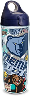 Tervis NBA Memphis Grizzlies All Over Insulated Tumbler with Wrap and Navy with Gray Lid, 24oz Water Bottle, Clear