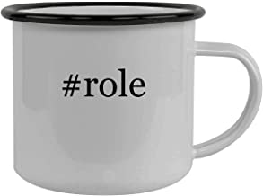 #role - Stainless Steel Hashtag 12oz Camping Mug, Black