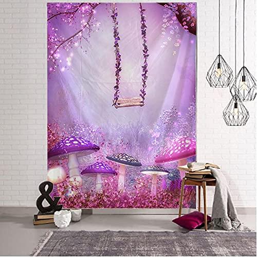 Fantasía jardín paisaje tapiz Art Deco manta cortina colgante hogar dormitorio sala de estar decoración H180xW300cm