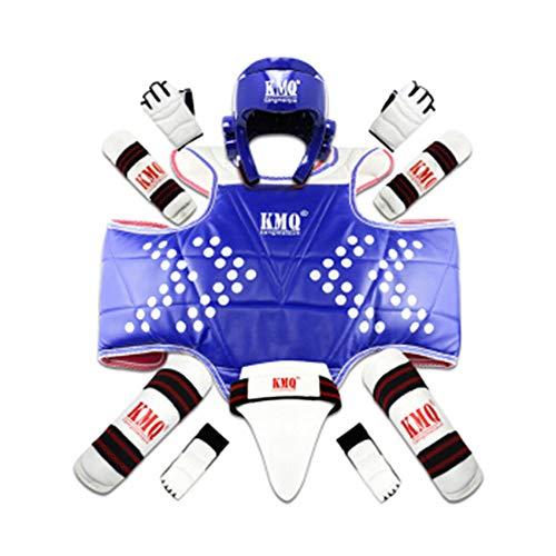 ZLBZBB Taekwondo Boxen Protektoren Kit, Sparring Schutz, Groin Armband, Karate Muay Thai Taekwondo Protektoren Set M
