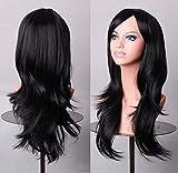 Gaocheng Beauty Smooth Hair Frauen Lang Laenge Haar Peruecke mit Voll Pony Cosplay