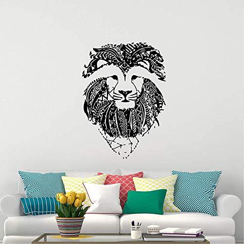 León pared calcomanía zoo savannah animal naturaleza vinilo pegatina niño niña dormitorio ventana decoración inspiradora decoración 45X68CM