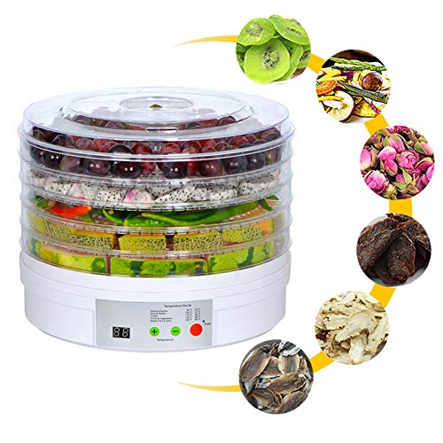 Review Intelligent Timing Food Dehydrator Machine, DIY Food Preserver, LED Display, 360° Cycle Heat...