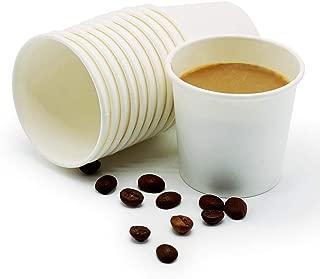 TashiBox 4 Ounce Thick Espresso Cups Travel To Go, 4oz-200, White