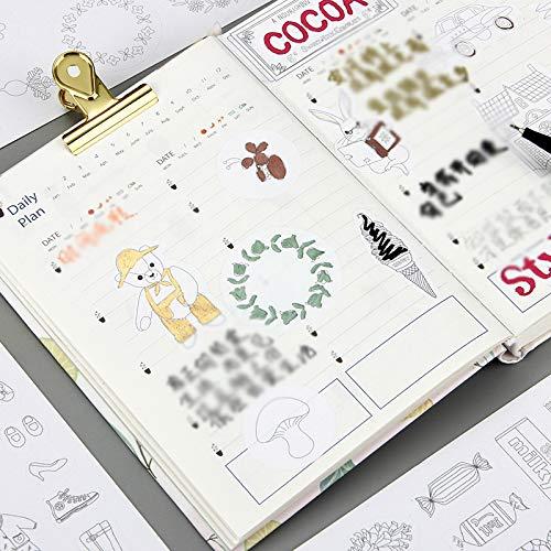 Hacoly 9 fogli Graffiti scrapbooking adesivi marcatura nastro adesivo scrapbook stickers diario della carta della decorazione planner Washi nastro sticker diario, appunti di viaggio, cartoline decorazione per DIY