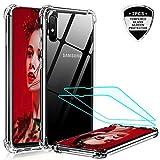 LeYi für Samsung Galaxy A10/M10 Hülle mit Panzerglas Schutzfolie (2 Stück), Neu Transparent Cover Hard Air Cushion Bumper Schutzhülle Handy Hüllen für Hülle Samsung Galaxy A10 Handyhülle Crystal Clear