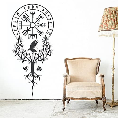 Zdklfm69 Pegatinas de Pared Adhesivos Pared Vinilo árbol decoración del hogar Cartel extraíble Dormitorio Sala de Estar decoración Papel Tapiz Pegatinas murales 42x89cm