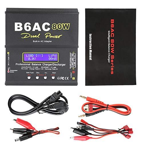 Cargador de batería LCD Digital Balance Charger Durable, para batería de iones de litio, para electricidad, para batería de NiMH