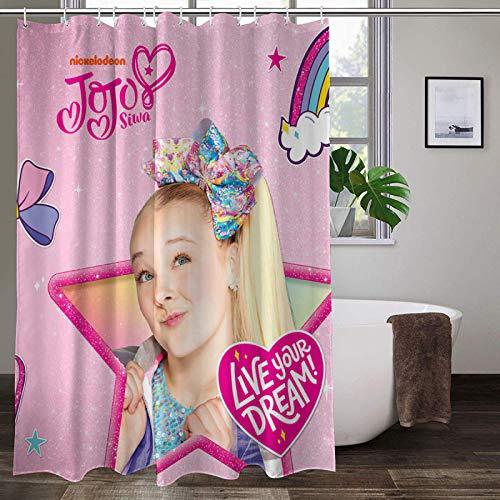JoJo Siwa Shower Curtain Fabric Shower Curtain Decor with Hooks Waterproof Washable 70 x 70 inch