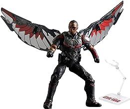 QYF Titan superhéroe Figura de acción Falcon Sam Wilson Capitán América, 18cm (7inchs), Marvel Avengers Juguetes, Incluyendo Soporte