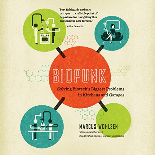 Biopunk audiobook cover art