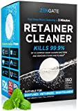 Retainer & Denture Cleaner Tablets - 4 Months Supply (120 pcs) - 3 Min Cleaning of Retainers & Aligner - Dental Cleaners for Odor & Plaque - Fresh & Bright Teeth, Mouth & Night Guard - USA Formulated