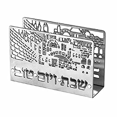 Judaica Shabbat Holiday Match Box Holder Laser Cut Jerusalem View w Matchbox