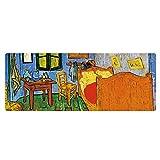 Artiste Peinture À L'huile Grand Tapis De Souris En Caoutchouc Personnalité Paysage Personnalisé Personnalisé Tapis De Souris chambre 11.8X31.5X0.08 dans