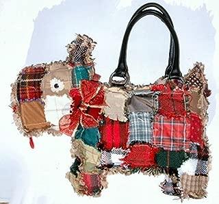 Scruffy Scottie Puppy Purse, Handbag Patchwork Dog Purse. One of a Kind!