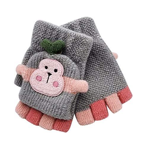 Cuidado del bebé, niño bebé Invierno cálido Tejido Convertible Flip Top sin...