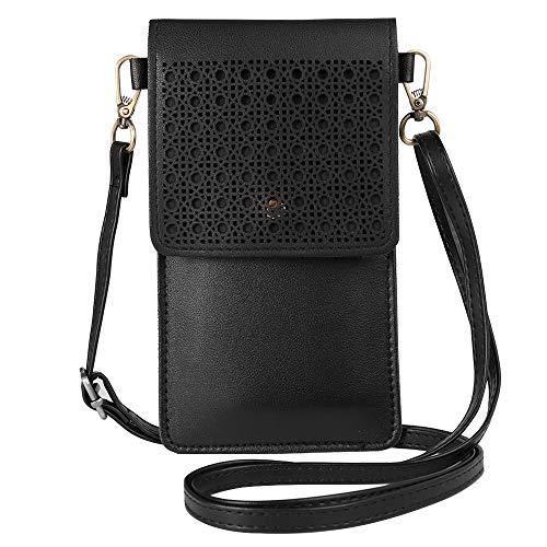 Handtasche mit Touchscreen, für Handy, Clutch, kleine Crossover-Tasche für Damen, für Galaxy S20 Ultra 5G, S20 Plus, S20, Note 20 Ultra, A11 A51 A71 A10S A20 A50 Note 10 Plus Note 9 S10+ (schwarz)