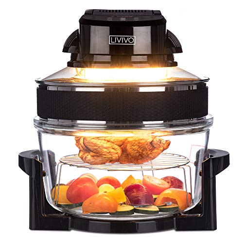 LIVIVO Digital 17L Halogen Oven Cooker Self Cleaning 1400W Element and...