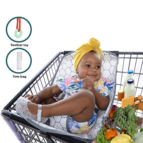 Baby Bundle Hammock for Shopping Trolley: Baby Cart Seat with Tote and Teether