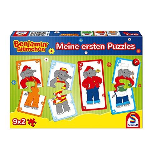 Schmidt Spiele Puzzle 56273 Benjamin Blümchen, Meine ersten Puzzles, 9x2 Teile
