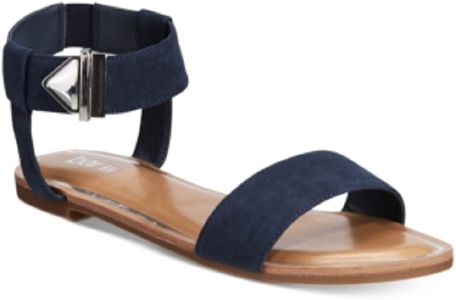 Bar III Womens Victor Fabric Open Toe Casual Slide Sandals, Navy, Size 5.5