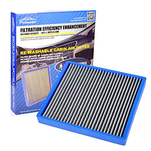 POTAUTO Re-Washable Cabin Air Filter