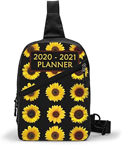 2020–2021 Planer Sling Bag, Crossbody Schulter Brust Outdoor Wandern Reisen Persönliche Tasche für Damen Herren Wasserdicht