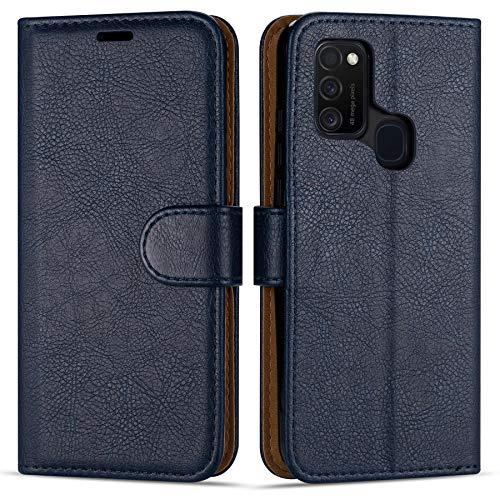 Hülle Collection Hochwertige Leder hülle für Samsung Galaxy M21 Hülle (6,4