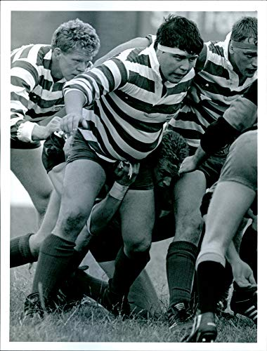 Vintage photo of Nick Wheeler, former Rugby Union player of Sale Sharks