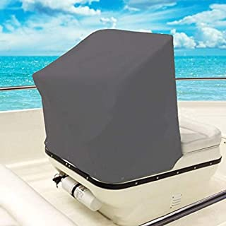 QCWN Boat Center Console Cover, Heavy Duty Waterproof Oxford Protective Covers for Center Console Boat Helm or Boat Flip-Flop Seat