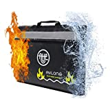 Fireproof and Waterproof Money and Important Documents Bag, Black, Size No Size