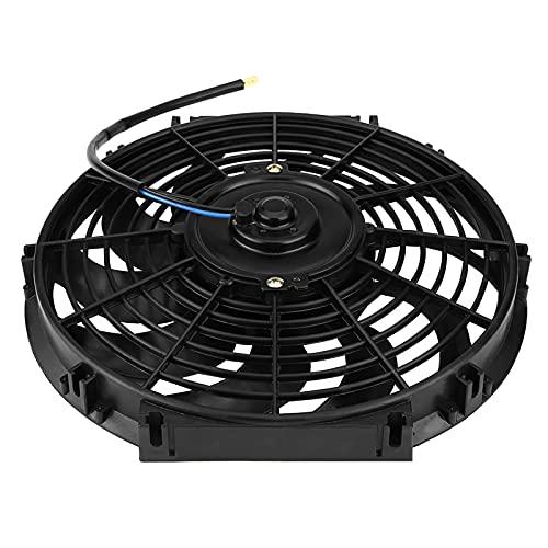 Ventilador de refrigeración, ventilador de radiador eléctrico de bajo ruido 12'ventilador de coche universal de 10 cuchillas 12V 80W para coches